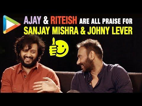 "Riteish Deshmukh: ""Ajay Devgn & Sanjay Mishra have great CHEMISTRY Because…""| Total Dhamaal"