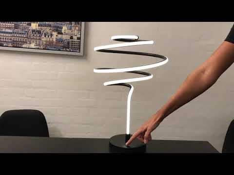 Lysdæmper funktion i Spiral bordlampe