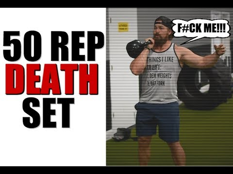 Total Body Kettlebell Workout [50 Rep Death Set]