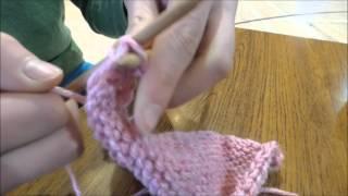 How to knit a handbag - Click Lesson
