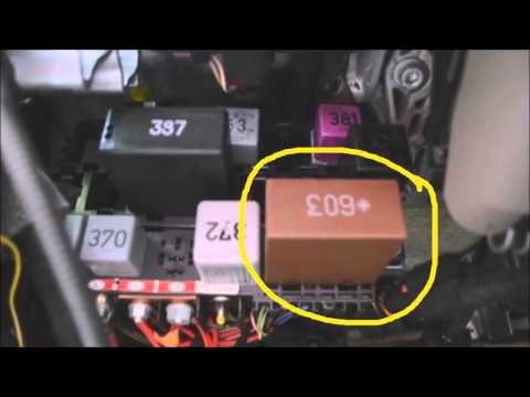 Audi A6 Relay Panel Location & Diagram Commentary