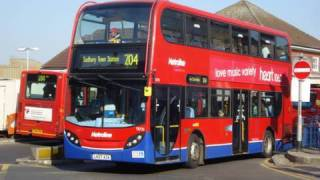 preview picture of video 'BUSES AT EDGWARE BUS STATION, APRIL 2010'