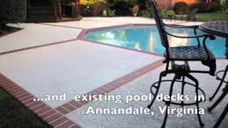 preview picture of video 'Annandale,VA Pool Deck Coating : Sundek Classic Texture'