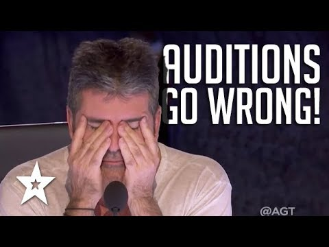 AUDITIONS GONE WRONG | Are These The Worst Auditions Ever On Got Talent?! (видео)