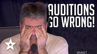 AUDITIONS GONE WRONG | Are These The Worst Auditions Ever On Got Talent?!