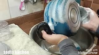 تنظيف المطبخ بعد العزومه في المطبخ الجديد