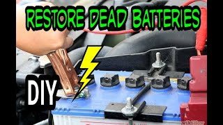 DEAD CAR/TRACTOR BATTERIES | BRING IT BACK TO LIFE | DIY