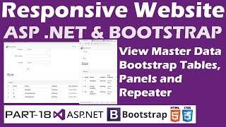 Responsive Website-ASP.NET&Bootstrap-Part 18-View Data in Tables,Panels with Repeater Control