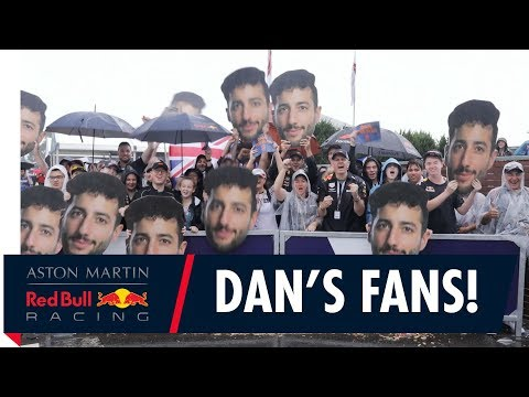 Daniel Ricciardo fans show their support at the Australian Grand Prix