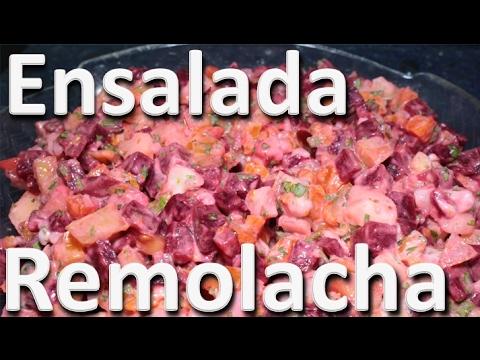 Ensalada de Remolacha y Zanahoria - Ensalada Casera Colombiana