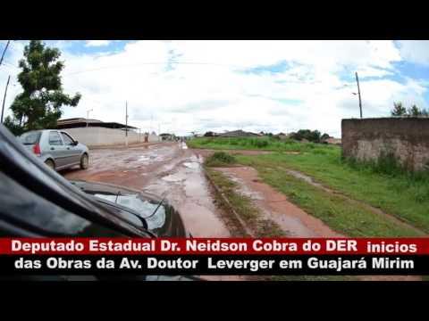 VÍDEO: DEPUTADO DR. NEIDSON COBRA DO DER INICIAS DAS OBRAS DA AV. DR. LEWERGER EM GUAJARÁ-MIRIM