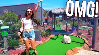 She Has Never Done This At A Mini Golf Course! - Amazing Hole In One!