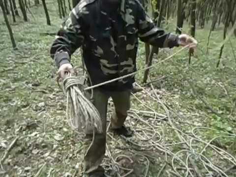 змотування мотузки щоб потім швидко розмотувати
