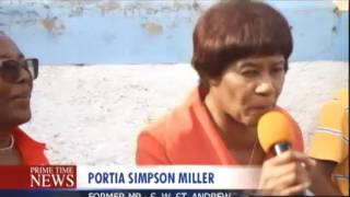 Portia Drums Support For Angela Brown Burke - Prime Time News - July 28 2017