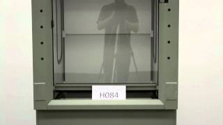 3′ Fisher Hamilton Safeaire Fume Hood with Epoxy Counter Tops and Base Cabinets (H084)