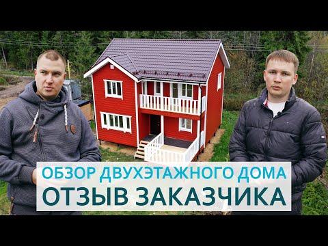 "Обзор каркасного дома, размером 8x9 м. снт ""Надежда"", Тосненский район."