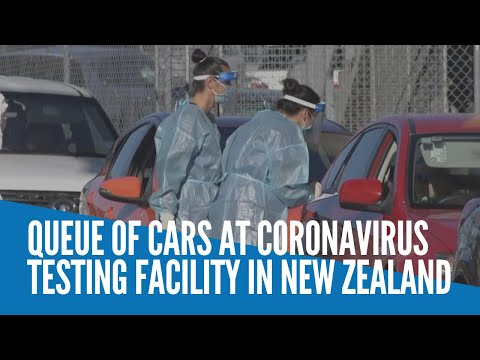 [Inquirer]  Queue of cars at coronavirus testing facility in New Zealand