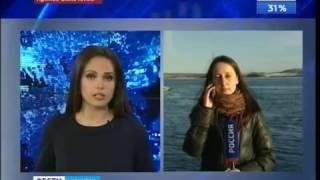 """Автомобиль «Сузуки» с двумя людьми ушёл под воду в Иркутске, """"Вести-Иркутск"""""""