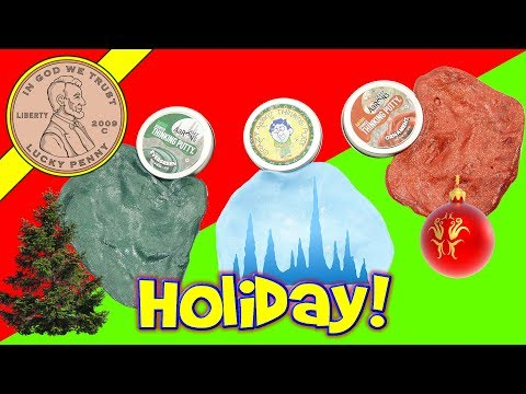 Crazy Aaron's Christmas Thinking Putty - Evergreen - Ornament & Icicle