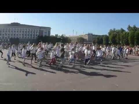 На главной новгородской площади прошёл детский танцевальный флешмоб