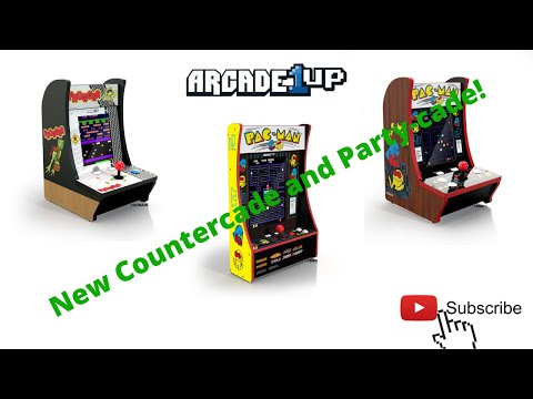 New Arcade1up: Frogger and 40th Anniversary Pac-man Counter-cades and new Pac-man Party-cade!