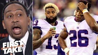 Odell Beckham Jr., Saquon Barkley should sit, Eli Manning's 'time is up' - Stephen A. | First Take