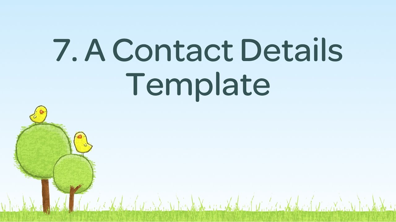 A contact details template
