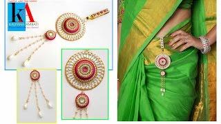 How to make Silk Thread Waist Chain || Silk thread Belly Chain || Wedding jewelry
