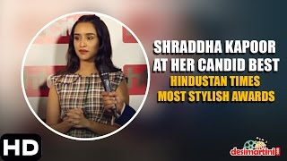 Shraddha Kapoor At Her Candid Best | Hindustan Times Most Stylish, Delhi | 2016