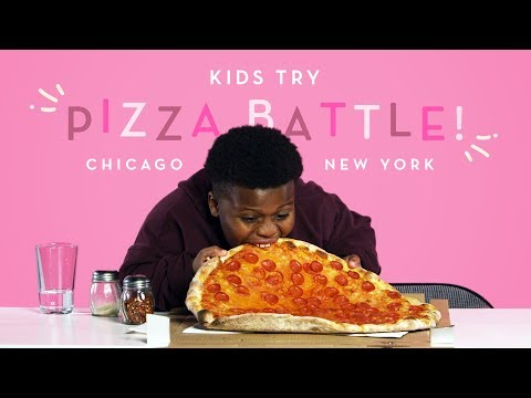 Download Kids Try Pizza Battle! New York Thin Crust vs. Chicago Deep Dish | Kids Try | HiHo Kids HD Mp4 3GP Video and MP3