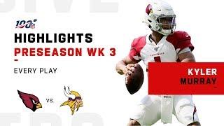 Every Kyler Murray Pass & Run vs. Vikings   NFL 2019 Highlights