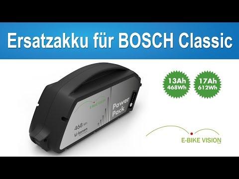 E-Bike Vision Akku für Bosch Classic Systeme / Rahmen Akku