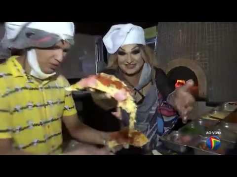 Jurema Fox e Adeildo B preparam pizza especial da Turma do Barra