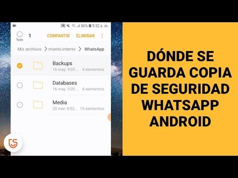 donde se guardan las copias de seguridad de whatsapp android