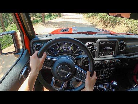 2021 Jeep Wrangler Rubicon 4xe - POV Dirt Road Drive (Binaural Audio)
