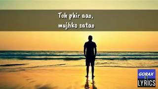 Toh phir aao (Cover Lyrics) - YouTube