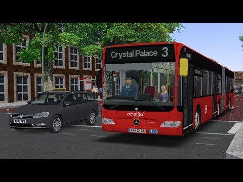 OMSI 2 | London Route 3: Kennington to Crystal Palace | Mercedes-Benz  Citaro UK - Lukeo Gaming