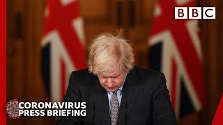 Covid-19: Boris Johnson \'deeply sorry\' as UK deaths exceed 100,000 🔴 @BBC News live - BBC