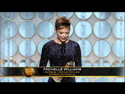 Michelle Williams Best Actress Motion Picture Comedy Or Musical - Golden Globes 2012