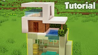 Minecraft How To Build A Small Easy Modern House Tutorial 24 Minecraftvideos Tv