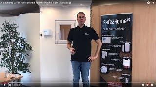 Safe2Home SP110 / SP210 - erste Schritte - Inbetriebnahme - Funk Alarmanlage