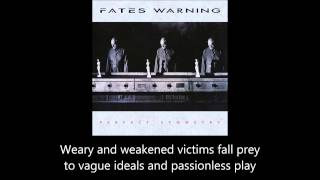 Fates Warning - Part Of The Machine (Lyrics)