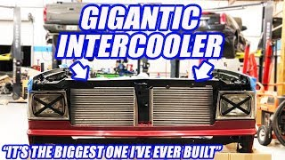 Twin Turbo AWD S-10 Gets Its Motor, Transmission And HUGE Intercooler! Ep 10