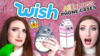 HUGE WISH PHONE CASE HAUL!!! + CHEAP PHONE CASES FROM ALIEXPRESS 2018
