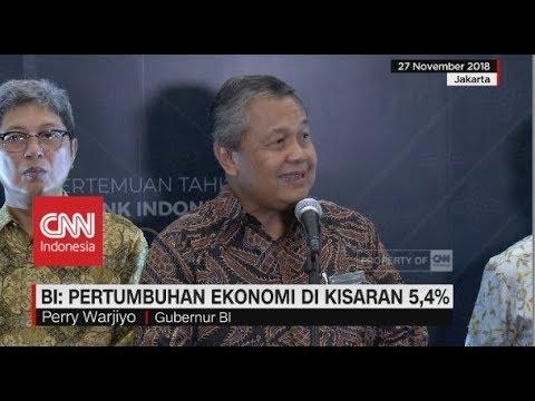 BI: Pertumbuhan Ekonomi Indonesia  2019 akan di Kisaran 5,4%