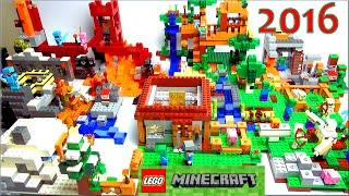 LEGO Minecraft 2016 все наборы Обзор на русском языке по игре Майнкрафт