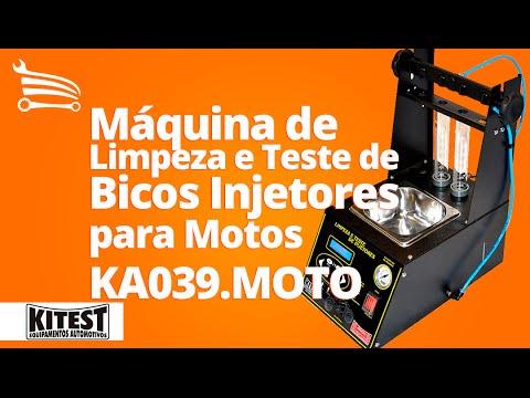 Máquina de Limpeza e Teste de Bicos Injetores com Display LCD para Motos - Video