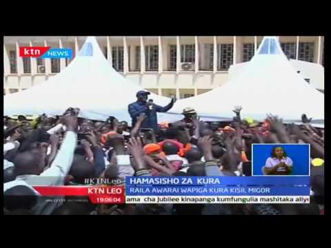 Raila Odinga awahamasisha wapiga kura huko Kisii