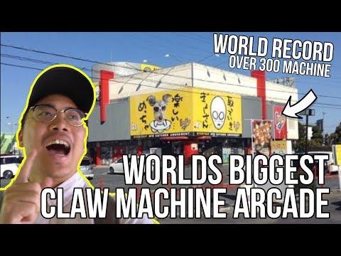 WORLDS BIGGEST CLAW MACHINE ARCADE! - Arcade Ninja