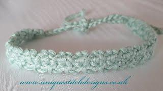 CROCHET CORD BRACELET /FAST AND EASY#crochetheadband#hačkovanie#howto